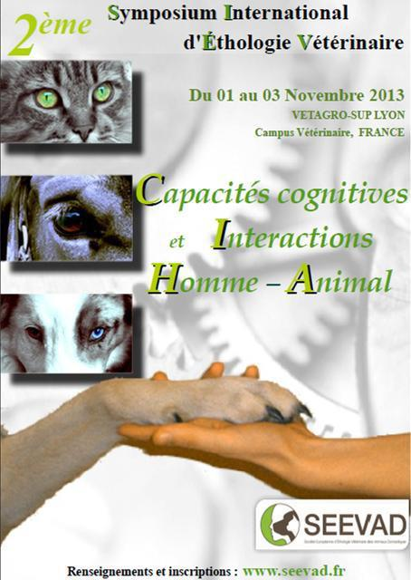 Affiche 2ème symposium International d'Ethologie Vétérinaire