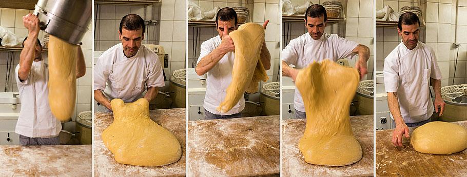 Travail de la pâte par Eric Delagarde