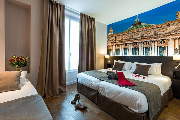 Chambre décorée avec des photos d'auteur de Frédéric Brollo - Panoramica