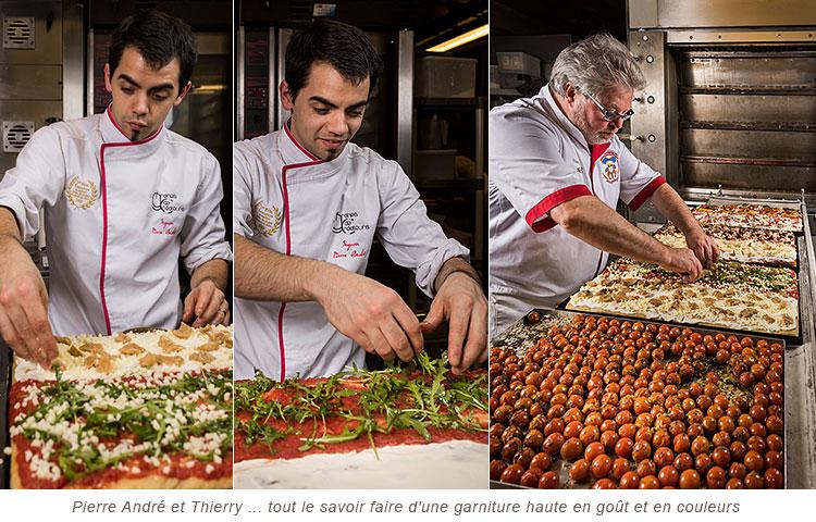 Garniture de la Pizza in Teglia des Créateurs